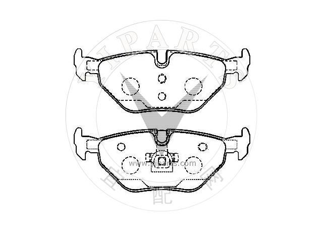 MINTEX REAR BRAKE PADS MDB1888 FOR MG 6 1.8 TURBO 2011