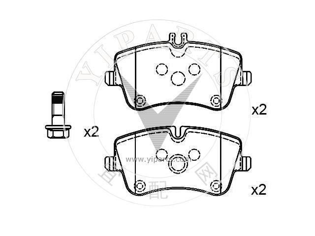 supply brake pad set 003 420 60 20  for mercedes benz