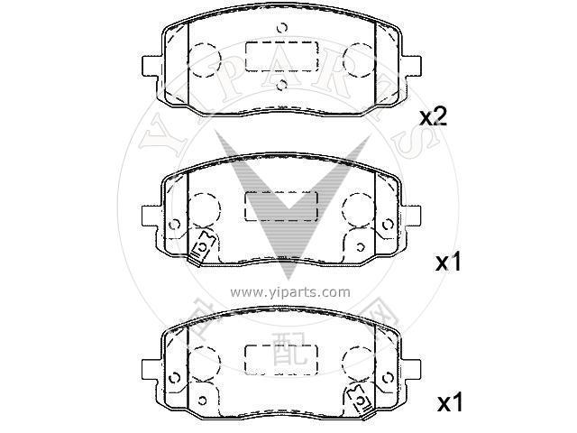 supply brake pad set 58101