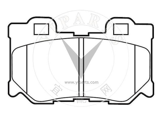 supply brake pad set d4060