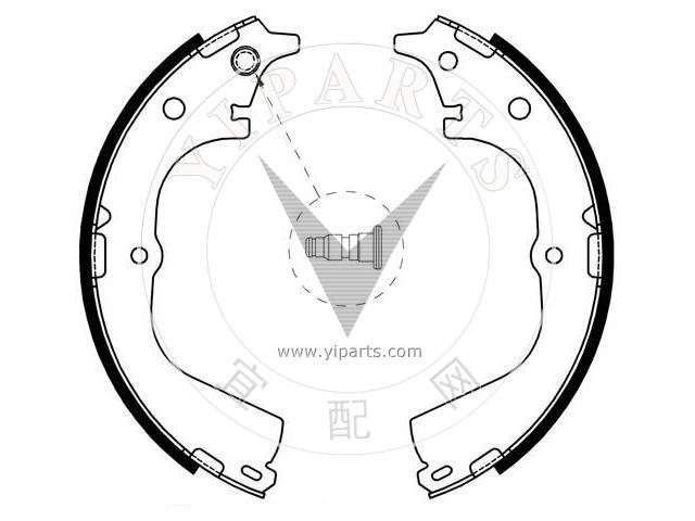 Supply Bremsbackensatz04495 26140 For Daihatsu Toyota